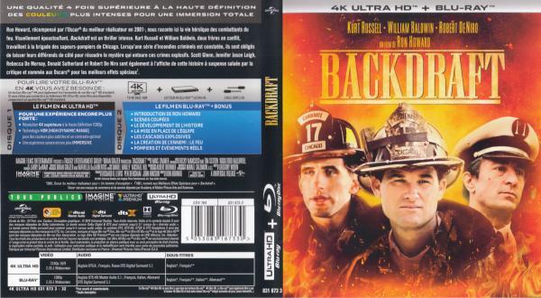 Backdraft 4k blu-ray