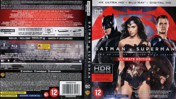 Batman v superman l'aube de la justice 4kK blu-ray