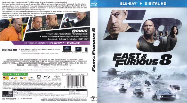 Fast and furious 8 blu-ray v2