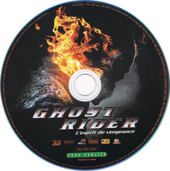 Ghost rider l'esprit de vengeance 3D blu-ray sticker