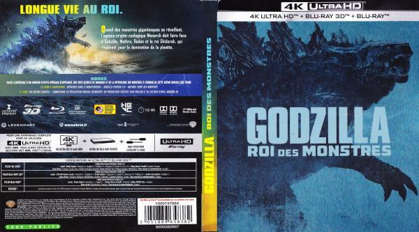 Godzilla roi des monstres 4k (blu-ray)