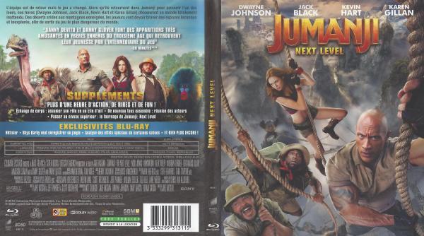 Jumanji next level (blu-ray)