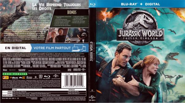 Jurassic world fallen kingdom (blu-ray)