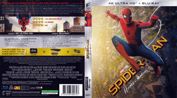 Spider-man homecoming 4K (blu-ray)