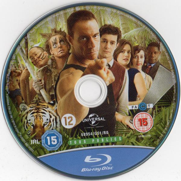 Welcome to the jungle (2012) blu-ray sticker