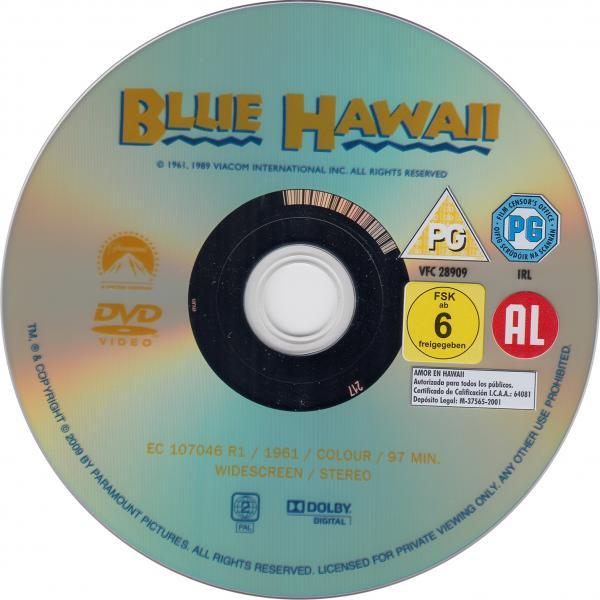 Sous le soleil bleu d'hawai ( sticker )