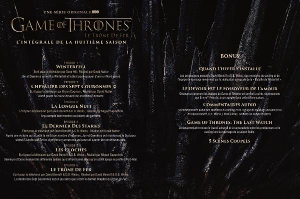 Game of thrones Saison 8 Inlay