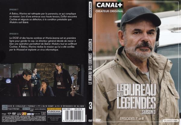 Le bureau des legendes saison 3 dvd 3 slim