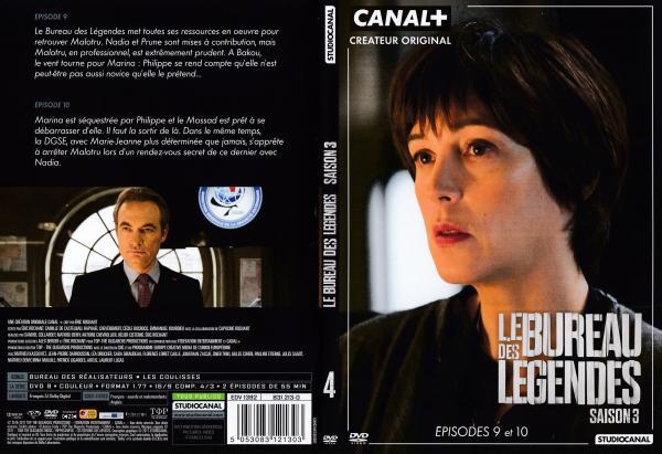 Le bureau des legendes saison 3 dvd 4 slim