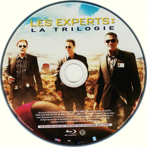Les experts la trilogie (blu-ray) ( sticker )