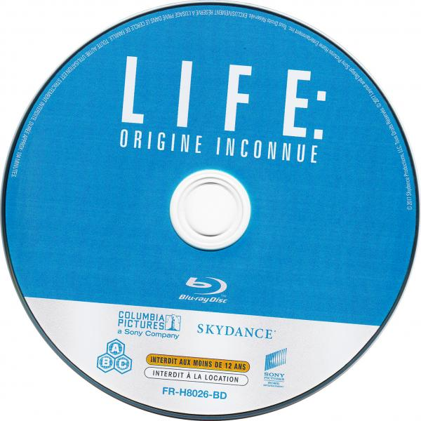Life origine inconnue ( sticker )( blu-ray )