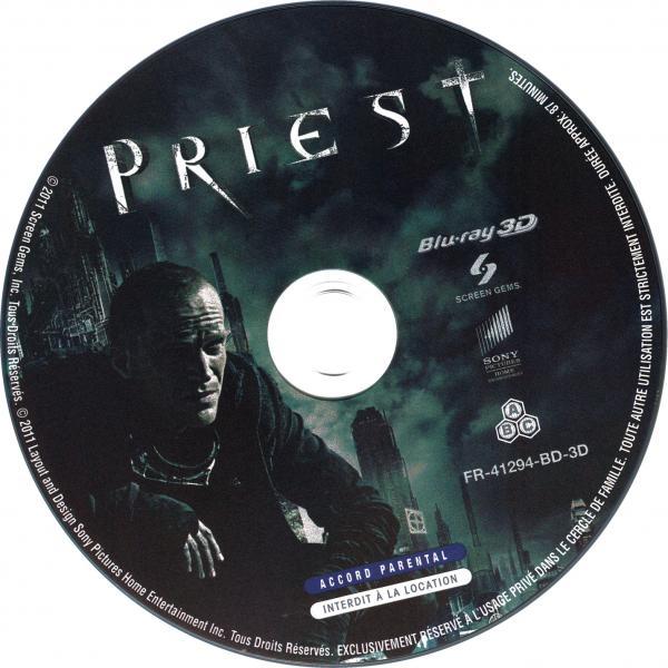 Priest (blu-ray)  sticker