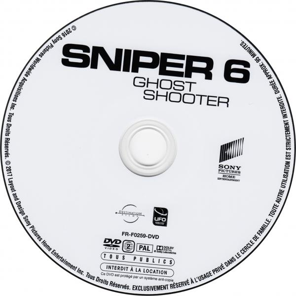 Sniper 6 ghost shooter sticker