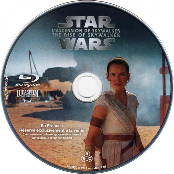 Star wars - L'ascension de Skywalker blu-ray ( sticker )