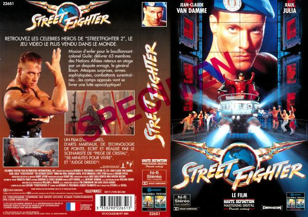 Street fighter le film VHS