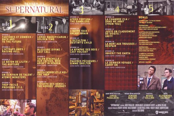 Supernatural Saison 15 (Inlay)
