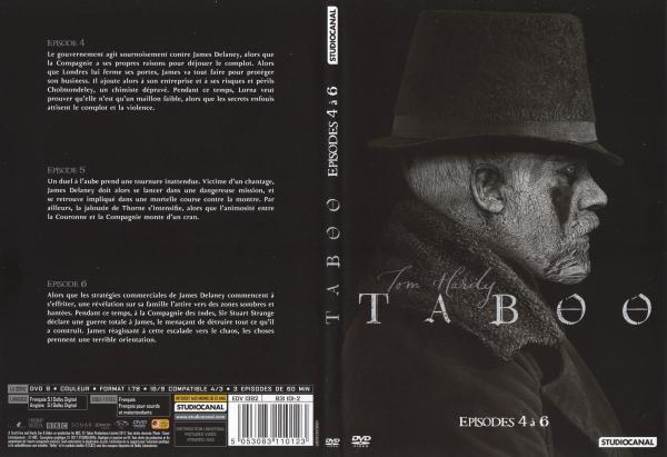 Taboo saison 1 dvd 2 slim