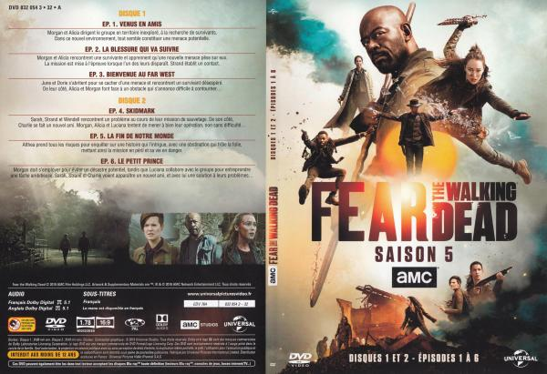 The fear walking dead Saison 5 Dvd 1 et 2 slim