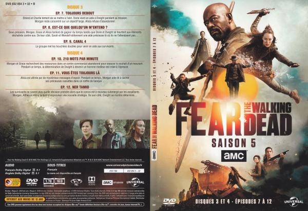 The fear walking dead Saison 5 Dvd 3 et 4 slim