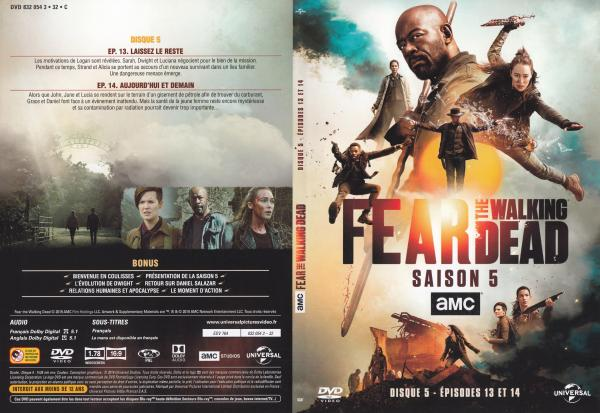 The fear walking dead Saison 5 Dvd 5 slim